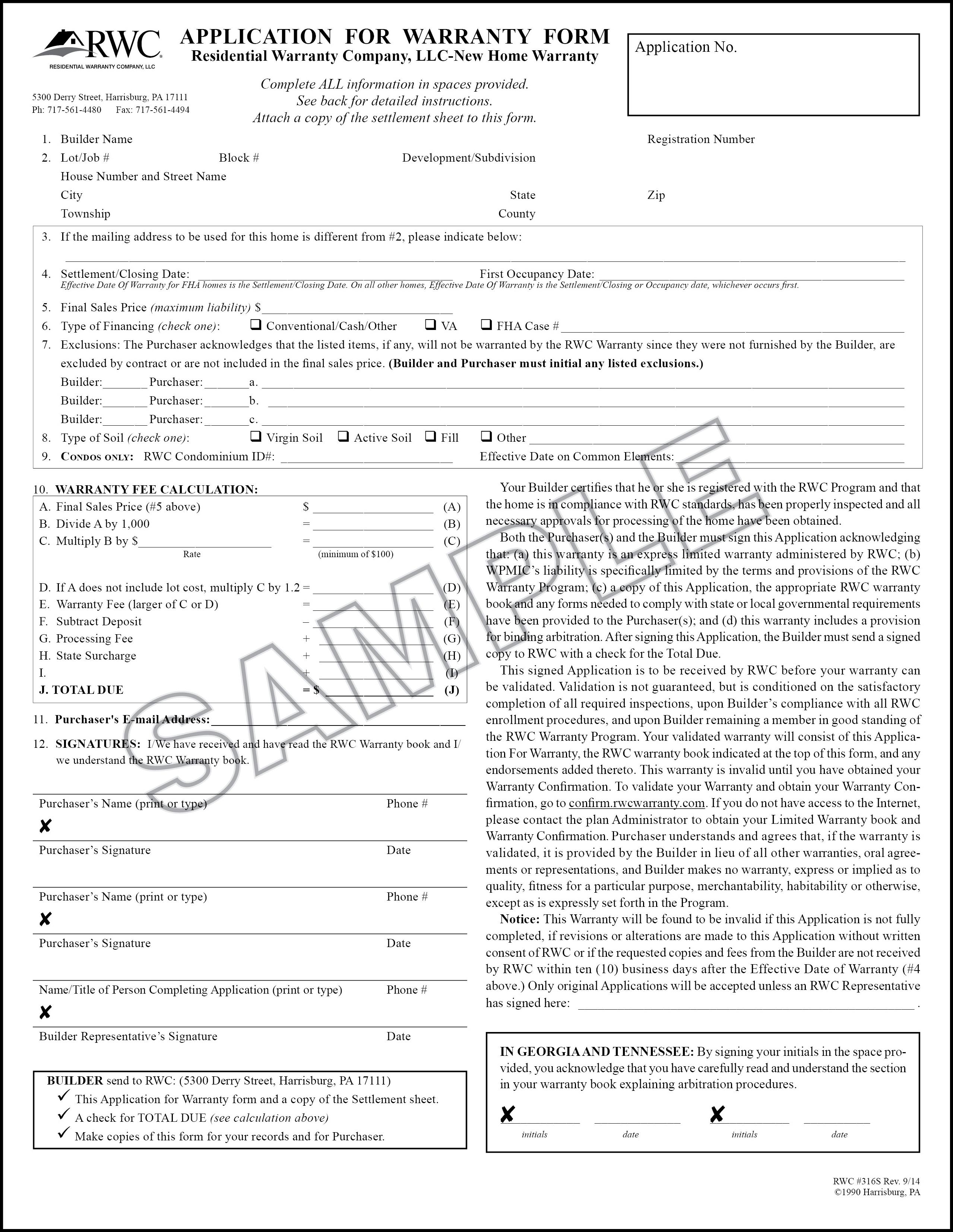 Rwc Marketing Enrollment Rwc Warranty