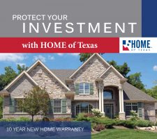 HOME of Texas 10-year Warranty coverage for new homes